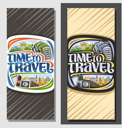 layouts for travel agency vector image