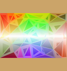 Light rainbow random sizes low poly background vector