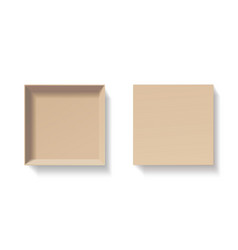 open craft box empty cardboard container template vector image