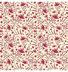 Painted abstract florals seamless pattern vector image