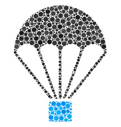 Parachute composition of filled circles vector