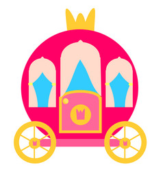 pink princess carriage vector image