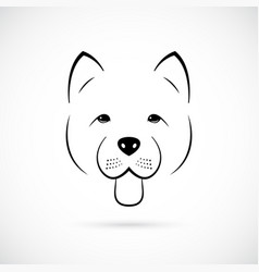 portrait of cute chow-chow isolated vector image