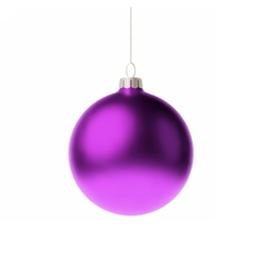 Purple 3d christmas Bauble vector