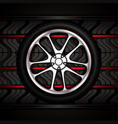 Racing car wheel vector