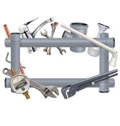 Sanitary engineering frame vector
