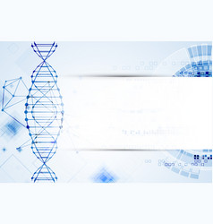science template dna molecules background vector image