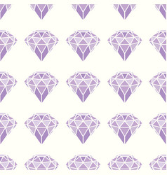 seamless pattern geometric purple pink diamonds vector image