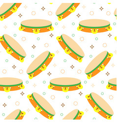 seamless pattern with tambourines vector image