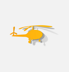 Silhouette a helicopter on white background vector