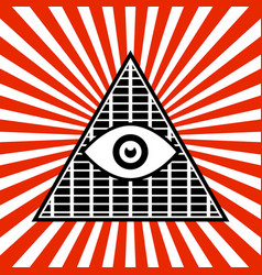 symbolic pyramid graphics with the all-seeing eye vector image
