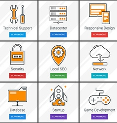 Technical Support Data Storage Network Startup vector image