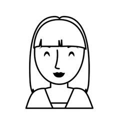 Teen girl character avatar vector