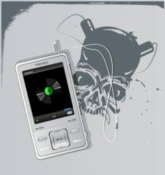 Telephone and skull vector