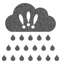 Thunderstorm Rain Cloud Grainy Texture Icon vector image