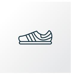 trainer shoes icon line symbol premium quality vector image