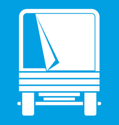 truck icon white vector image