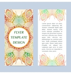 Two-side Flyer with Floral mandala pattern and vector image