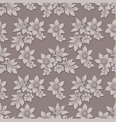 volumetric flower seamless pattern vector image
