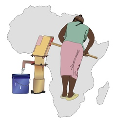 Water essential commodity for Africa vector