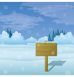 Winter Landscape Sign vector image