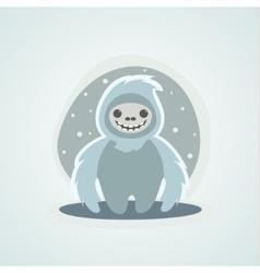 Yeti snowman bigfoot is a unique vector