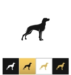 Dog silhouette black icon vector