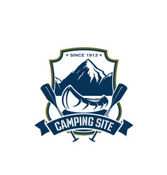 icon for camping site sport adventure vector image vector image