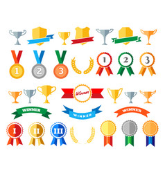 trophy and awards isolated on white vector image