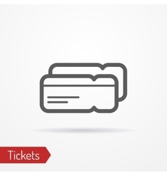 Ticket silhouette icon vector image vector image