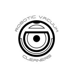 Vacuum cleaner robot symbol vector image