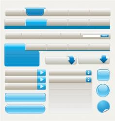 website design elements   blue vector image