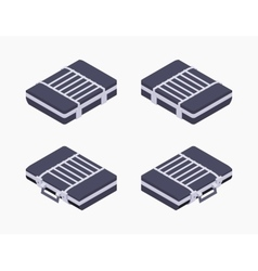 Isometric closed briefcase vector image vector image