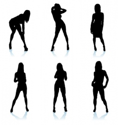 sexy woman silhouette vector image vector image