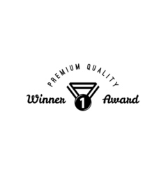 Award badge icon suitable for info graphics vector image vector image