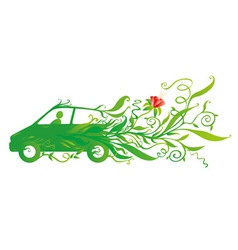 Ecology car vector image vector image