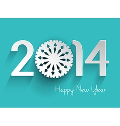 Happy New Year background with a snowflake design vector image vector image