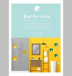 Interior design Modern bathroom banner 5 vector image vector image