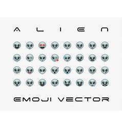 Set of alien icon vector image