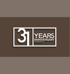 31 years anniversary logotype with white color vector