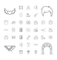 37 retro icons vector