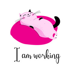 a lovely funny cat vector image