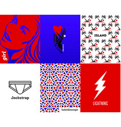 abstract covers with minimal design elements vector image