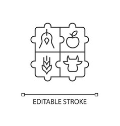 Agricultural cooperative linear icon vector