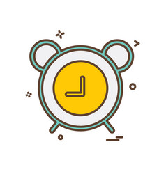 alarm clock icon design vector image