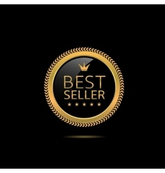 Best seller label vector image