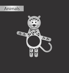 black and white style icon leopard vector image