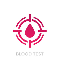Blood test icon on white vector