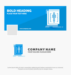 Blue business logo template for code edit editor vector
