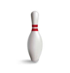 bowling pin isolated on white with gradient vector image